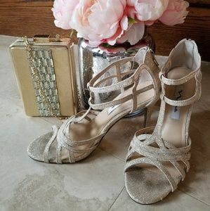 Gorgeous formal sandals - Gold/Champagne  color